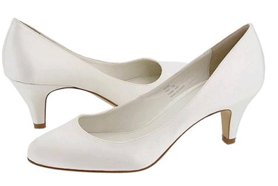 A True Classic These Affordable 100 Calvin Klein White Satin Pumps Will Complement Any Bridal